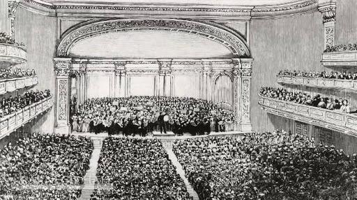 Карнеги-холл не мог вместить всех желающих на концерт Чайковского